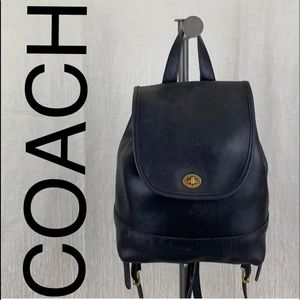 🎁 COACH VINTAGE LEATHER BACKPACK 💯AUTHENTIC